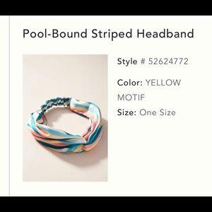 Anthropologie Silk Colorful, Striped Headband